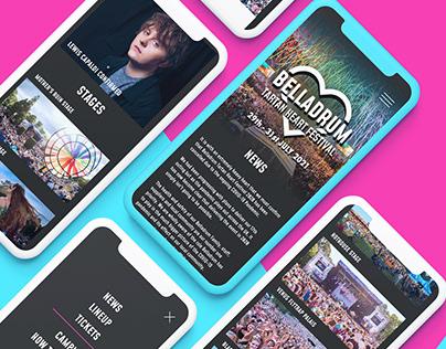 Festival site Re-design