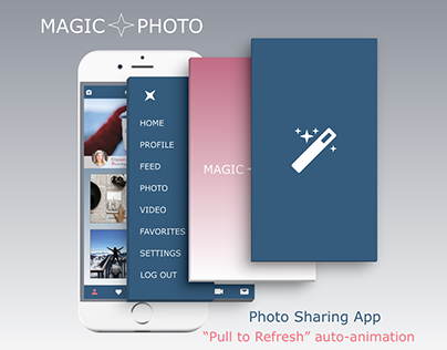 """Pull to refresh"" experience for a photo sharing app"