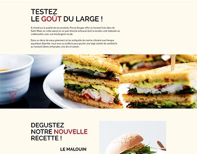 Maquettage/Prototypage - Site pour restaurant