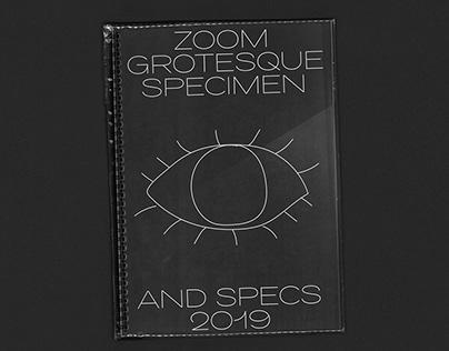 Zoom Grotesque Pro Specimen 2019