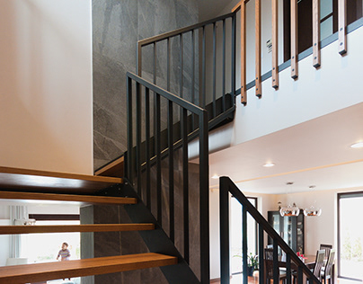 Krakow - stairs in a single family house