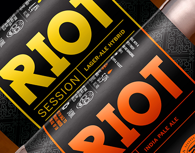 RIOT Beer Label Design