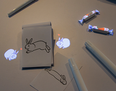 White Rabbits, Let's Play! Animation for Installation