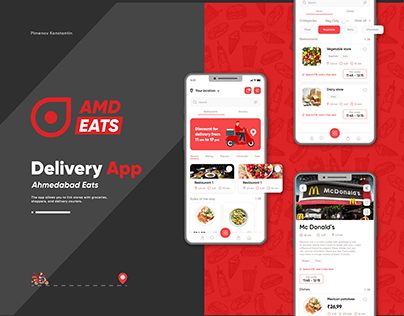 Delivery food restaurant eat Android iOS app