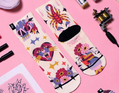 """Romance Socks"" Maria Rz X Pacific and Co"