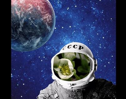 Гиф-анимация космонавт