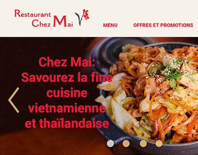 Site web-Restaurant Chez Mai