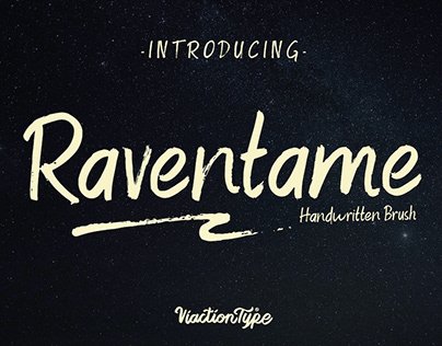 RAVENTAME - FREE HAND WRITTEN BRUSH FONT