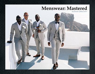 Menswear Mastered Event Syllabus