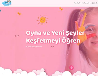 Dr Kasif Anaokulu Web Site Design
