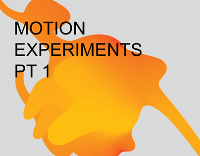 MOTION EXPERIMENTS PT1