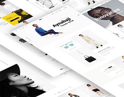 E commerce web template