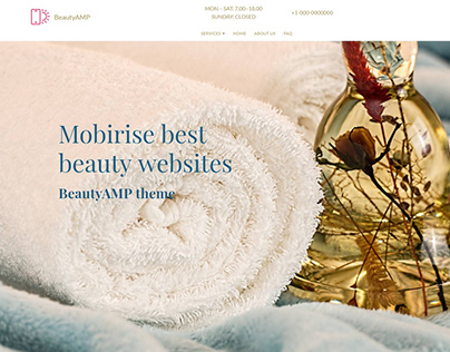 Mobirise best beauty websites - BeautyAMP theme