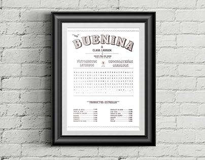 Tipografía Buenina