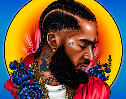 Digital Portrait: Nipsey Hussle