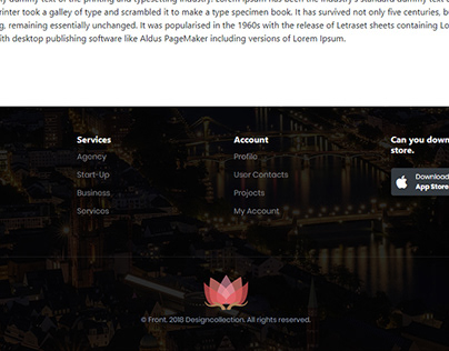 Footer - Bootstrap 4 Footer Design