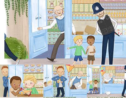 Children book.The thief & The Dentist