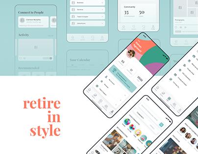 Retire in Style | UI/UX Design