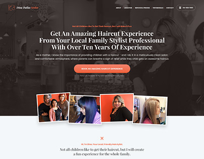Website Design for Beauty Salon