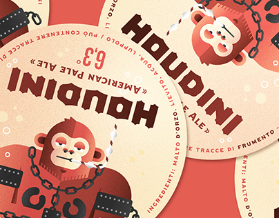 HOUDINI beer _ label, poster & gadget