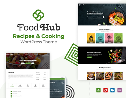 FoodHub - Recipes & Cooking WordPress Theme