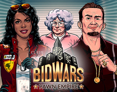 Bid Wars: Art Direction, Character Design, UI