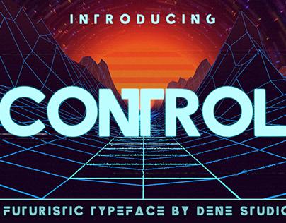 CONTROL - A futuristic typeface
