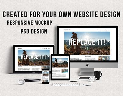 Website Mockup Design 2017