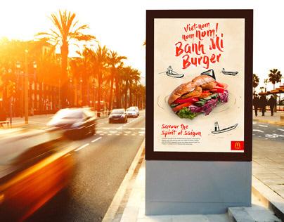 MacDonald's Banh Mi Burger Campaign