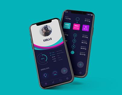 UI/UX Design prototype - Weight control app