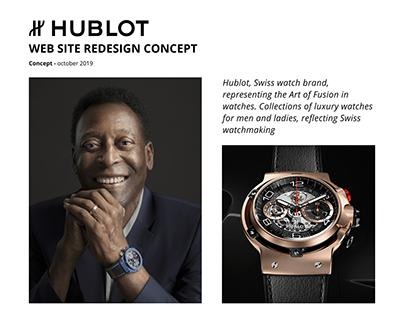 HUBLOT. Web site redesign concept