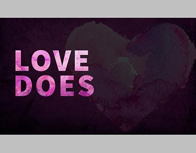 Love Does Sermon Series Graphics & Book