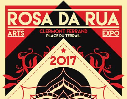 ROSA DA RUA / POSTER ART GRAPHIC STREET ART