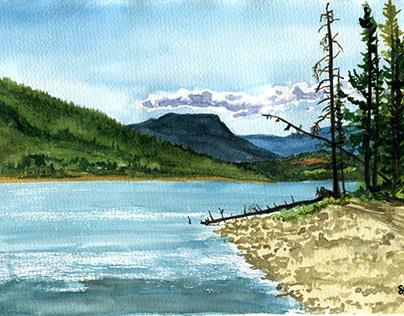 Plein Air Painting - Shushwap Lake - 2017