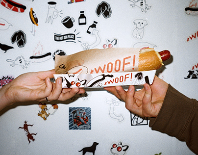 Woof! The hot dog place