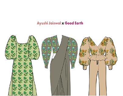 Flat Fashion Illustration (Client: Good Earth)