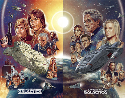 BATTLESTAR GALACTICA alternative posters 1978/2004