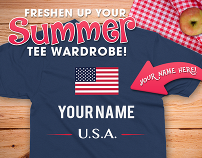 "Summer ""Your Name"" T-Shirts Email Design"