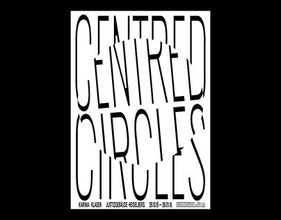 Centred Circles – visual concept, poster design