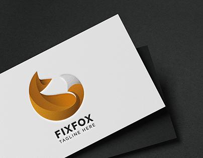 Fix Fox-Animal LOGO Template