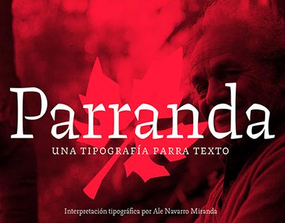 Parranda Book Typeface