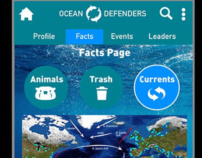 Ocean Defenders app screens