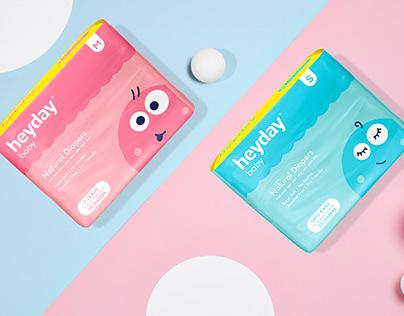 Heyday Baby Diapers - Packaging Design