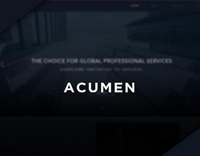 Acumen | Logo & Web Design Concept