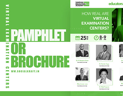 Virtual examination centres pamphlet or brochure.