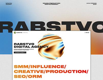 Rabstvo Sound Production & Digital Agency Website