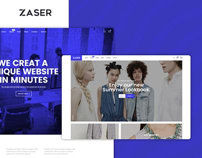 Zaser – A Multipurpose PSD Template
