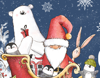 Chill Out Christmas Illustration ByPretty Little Lines