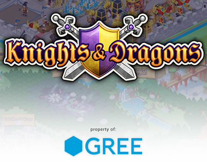 Knights & Dragons mobile game promotional assets