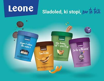 LEONE icecream   packaging design, promo, renders